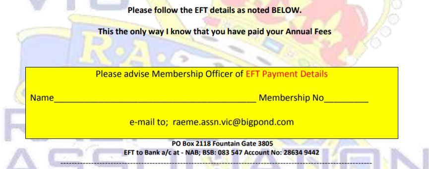 EFT Membership