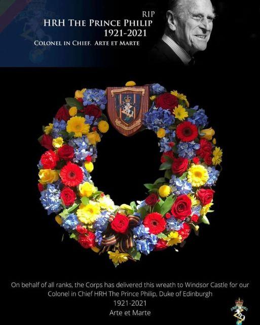 HRH RAEME Wreath